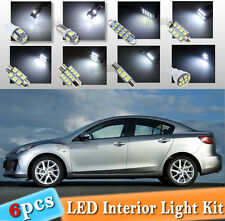 6-pc LED Interior Light Bulb Package Kit Fit 2010-2013 Mazda 3 Sedan & Hatchback