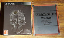 DISHONORED GAME YEAR EDITION + POSTER METAL 2 Jeu PS3 Playstation 3 Neuf Blister
