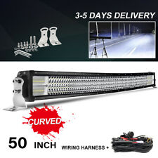 50inch Curved 288W LED Light Bar Combo Driving Offroad Lamp Truck +Wiring Kit EU
