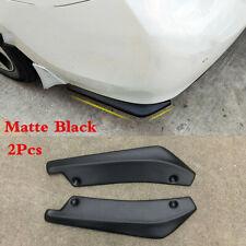 Matte Black Car Rear Bumper Spoiler Canard Diffuser Anti-Scratch Lip Splitters