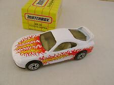 1993 MATCHBOX SUPERFAST MB 30 WHITE TOYOTA SUPRA NEW IN BOX