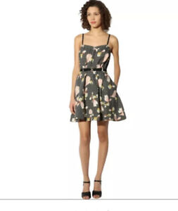 Urban Outfitters UO kimchi blue dress black floral size S UK8/10