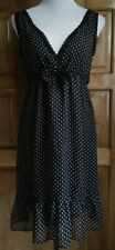 DressNStyle NWOT Branded MADONNA Black White Polka Dots Baby Doll Casual Dress