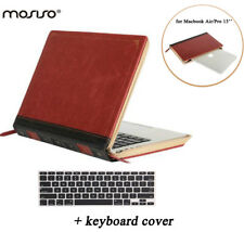 MOSISO fr Macbook Air 13/Pro 13 A1502 A1425 Vintage Classic PU Book Sleeve Case