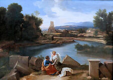 Nicolas Poussin: Saint Matthew Writing the Gospel. Art Print/Poster (3426)