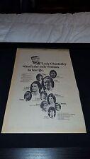 D.H. Lawrence Rare Original UK Granada Television Promo Poster Ad Framed!