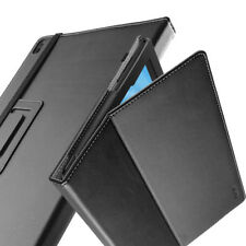 For Lenovo Tab 4 Plus 10 Case Synthetic Leather Stand Cover Black