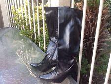 Wear to Work Knee High Slim Heel Boots for Women