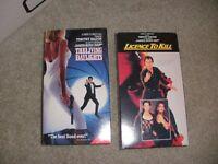 James Bond 007 Timothy Dalton Set: The Living Daylights & License to Kill (VHS)