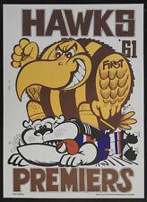 1961 Hawthorn Limited Edition Weg Premiers poster Hawks