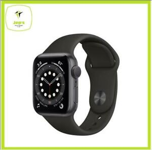 Apple Watch 6 44mm M00H3 Gray Aluminum Case Black Sport Band