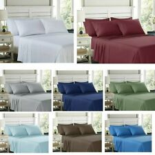 100% Egyptian Comfort 1800 Count 4 6 Piece Bed Sheet Set Deep Pocket Bed Sheets