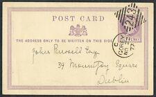 1877 1/2d Post Card Superb GOREY Duplex to Dublin Fine Used
