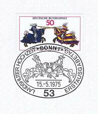 BRD 1975: Landhuter Hochzeit Nr. 844 mit Bonner Ersttags-Sonderstempel! 1A! 153
