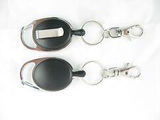 Heavy Duty Retractable Key Reel-Recoil Cord Key Ring Pull Chain Belt Clip OVAL