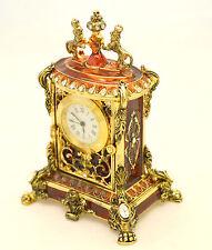 Orologio da scrivania Edward - Bicchielli con smalti rossi e cristalli