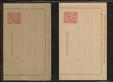 Monaco    2 postal letter cards unused  10  and  15  cents        APL0506