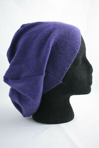 Callabus Andra ~ upcycled 100% CASHMERE wool ~ beanie hat handmade Large