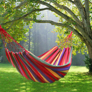 Portable Two Person Hammock Lightweight Hang Bed Outdoor Garden Camping.