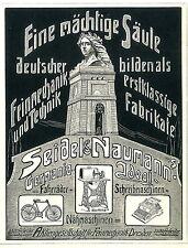 Original-Anzeige 68 Werbung Schreibmaschinen Seidel /& Naumann Ideal Erika 1912