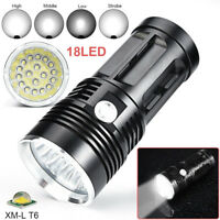 450000LM 18 x XM-L T6 LED 4 Modes Flashlight Torch 4 x 18650 Hunting Lamp Light