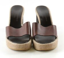 Robert Clergerie Brown Leather Open Toe Mules Womens Size US 8M MSRP $620