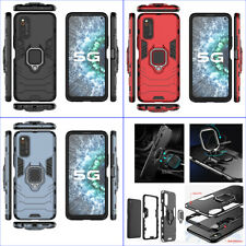 For VIVO iQOO Neo 3 Neo3 3in1 Shockproof Rugged Grip Ring Car Holder Case +glass