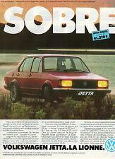 Publicité Advertising 1981 VOLKSWAGEN JETTA  DIESEL  VW
