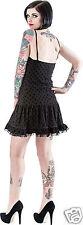 QUEEN OF DARKNESS Vestito Nero a Pois con Pizzo - Black Lace Dress Halloween