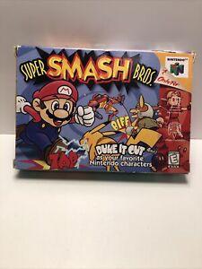 Super Smash Bros.  Nintendo 64 N64 Complete w/Box,Manual OG