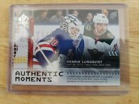 2019-20 Upper Deck UD Sp Authentic HENRIK LUNDQVIST #116 Authentic Moments