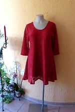 MAGNA Tunika Kleid Rundumspitze 52 54 NEU! rot A-Form Stretch LAGENLOOK