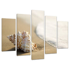 5 Panel Wall Art Beach Canvas Pictures Bathroom Bedroom Prints 5146
