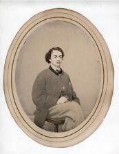 1864 Civil War Era, Salt Print, James Nelson Mayhew Son Royal Mayhew Shelbyville
