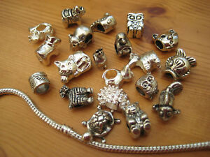 Animal Charms for European Bracelets Assorted silver EP or Tibet Silver