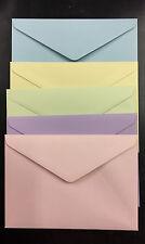 """100 x 130x185mm Envelopes  fits 5""""x7"""" Photos PASTEL COLOURS"""