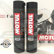 Kit Catena Moto Cross Motul C3 Chain Lube Off Road + C1 Clean Sgrassante Spray