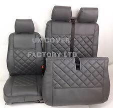 MERCEDES VITO VAN SEAT COVER GREY BENTLEY STITCH PREMIUM PVC LEATHER 150GY-GY