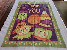 Custom Decor Boo To You Halloween Large House Flag 28 x 40.75 New