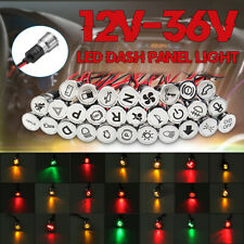 Car Boat Indicator Light DC 12V 16mm LED Pilot Dash Panel Warning Single Lamp