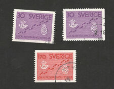 SWEDEN-3 USED STAMPS-1962.
