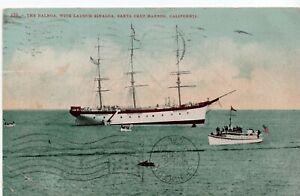 The Balboa With Launch Sinaloa Santa Cruz California 1908 Postcard