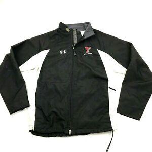 Under Artmour Texas Tech Red Raiders Tennis Jacket Size M Windbreaker Tail Flap