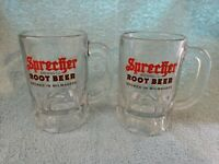 2 Sprecher Brewing Co. Root Beer Brewed In Milwaukee Glass Mugs