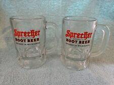 2 Sprecher Brewing Co. Root Beer Brewed In Milwaukee Glass Mugs