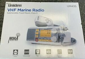 Uniden UM435 Advanced Fixed Mount VHF 25 Watt Power Marine Radio Brand New
