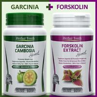 120 Weight Loss Capsules 60 GARCINIA CAMBOGIA 95% HCA + 60 FORSKOLIN Slim Pills