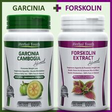 120 Weight Loss Capsules 60 GARCINIA CAMBOGIA 95% HCA + 60 FORSKOLIN Slim Pills