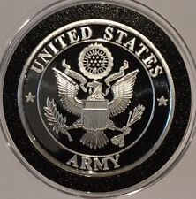 United States Army Collectible Coin 1 Troy Oz .999 Fine Silver Round Medal Ignot