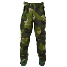 Original Swedish army M90 pants splinter camouflage field combat trousers NEW